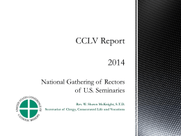 MATS Report on CCLV Activities - United States Conference of