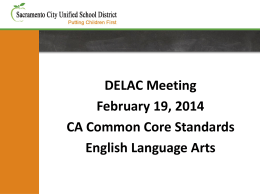 February 19, 2014 DELAC Powerpoint Presentation