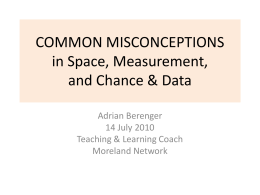 COMMON MISCONCEPTIONS - morelandnumeracyaiznetwork
