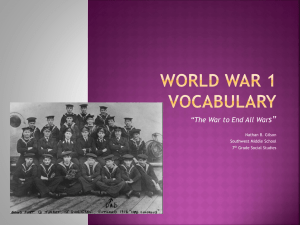 World War 1 Vocabulary