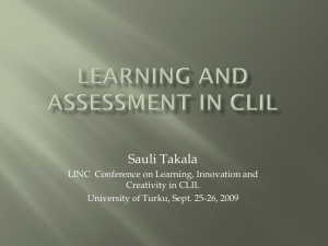 Learning and Assessment in CLIL