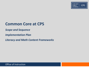 Common Core at CPS - Chicago Public Schools