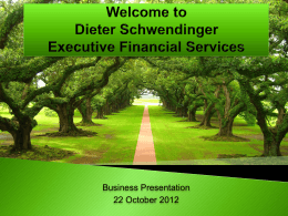 Dieter Schwendinger Financial Services