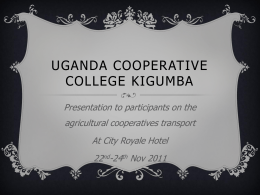 Uganda cooperative college kigumba - The Co