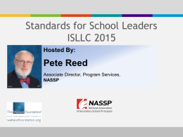 slides - National Association of Secondary School