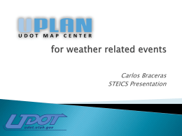 UPlan for Weather Related Events