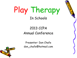 Using Play Therapy in Schools