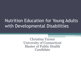 View the Slides - University Center for Excellence in Developmental