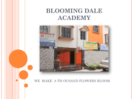 Slide 1 - Blooming Dale International Academy