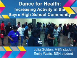 Dance for Health - Netter Center for Community Partnerships