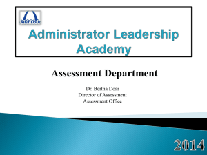 Assessment Office Principal Presentation July 2014