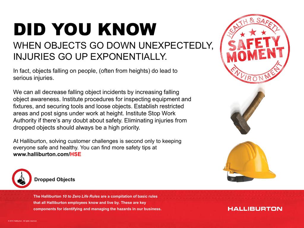 Falling objects safety presentation