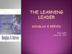 The Learning leader Douglas B.Reeves