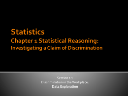 Investigating a Claim of Discrimination