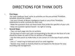 DIRECTIONS FOR THINK DOTS- Algebra example
