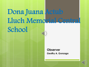 Dona Juana Actub Lluch Memorial Central School