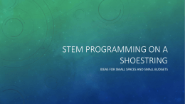 STEM Programming Slideshow