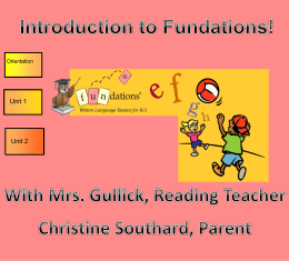 Fundations Presentation