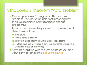 Pythagorean Theorem Word Problem