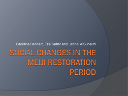 Social Changes in the meiji restoration period