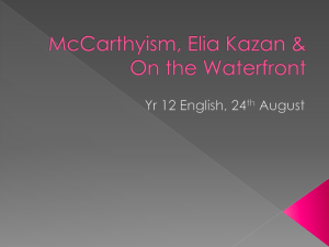 McCarthyism, Elia Kazan & On the Waterfront