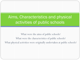 Characteristics of 19th Century Public School