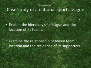The English/Welsh Football League (PPT) - geo