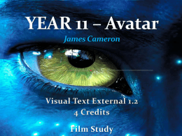 YEAR 11 – Avatar Film Introduction