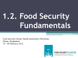 - Food Security Clusters