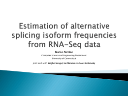 Estimation of alternative splicing isoform frequencies from RNA