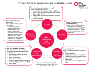 A framework for the measurement and monitoring of safety