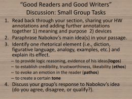 *Good Readers and Good Writers* Discussion: Small Group Tasks