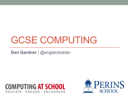 GCSE Computing - Junior Computer Science