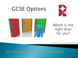 GCSE Options - Rossett School