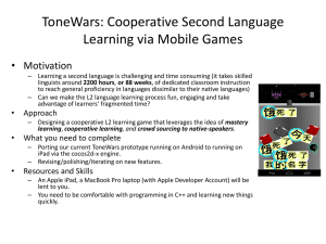 ToneWars: Cooperative Second Language Learning via Mobile