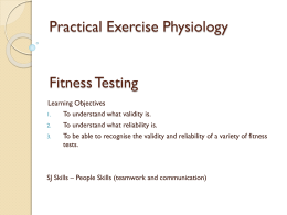 Fitness Testing - PE Course Specification
