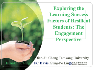 Exploring the Learning Success Factors of Resilient Students The