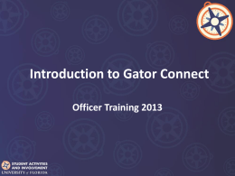 Introduction to Gator Connect - Student Activities and Involvement