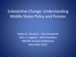 Substantive Change - Middle States Commission on Higher Education