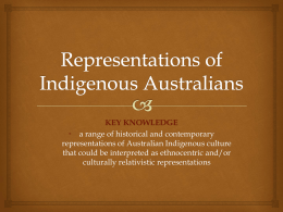 Representations of Indigenous Australians