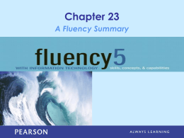 A Fluency Summary - USC Upstate: Faculty