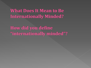 International Mindedness CPD