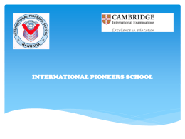 what is cambridge check point? - International Pioneers School
