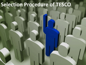 Selection Procedure of TESCO by Group 5