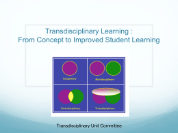 Presentation4-13 - Transdisciplinary Learning