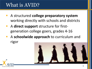 What is AVID - Geary County Schools USD 475