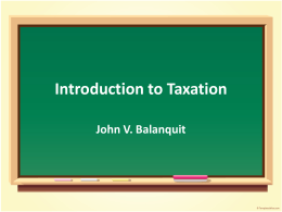 Introduction to Taxation 2