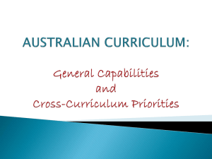 AUSTRALIAN CURRICULUM: Getting to know the General
