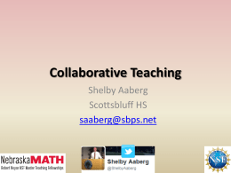 9-29-14 Aaberg Collaborative Teaching