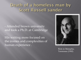 Death of a homeless man by Scott Russell1